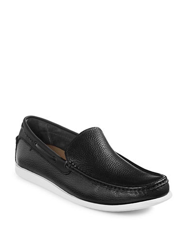 Kenneth Cole Reaction Pot-Lock Leather Loafers-BLACK-7