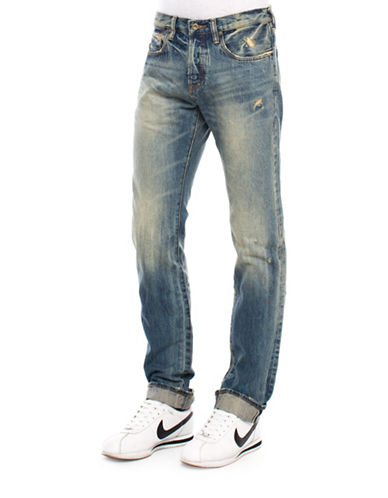 Prps Five-Year Wash Demon-Selvedge Jeans-INDIGO-28X34