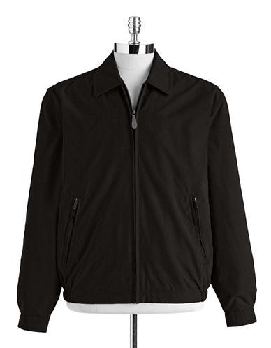 London Fog Microfibre Golf Jacket-BLACK-Small
