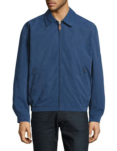 London Fog Microfibre Golf Jacket-BLUE-Medium