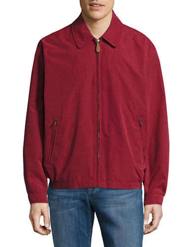 London Fog Microfibre Golf Jacket-RED-Small