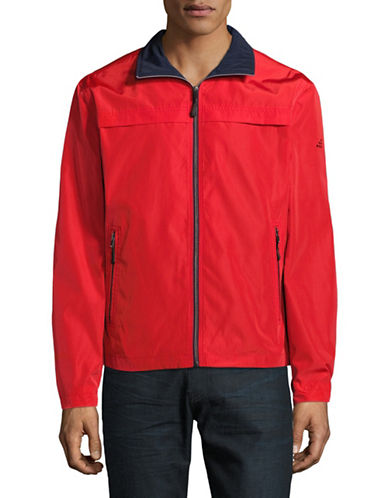 F.O.G. By London Fog Packable Jacket-RED-Medium