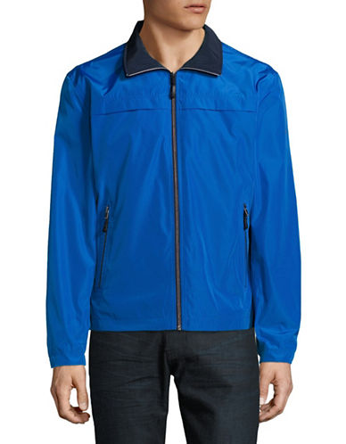 F.O.G. By London Fog Packable Jacket-BLUE-Large