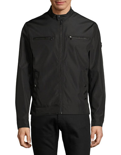 Michael Michael Kors Alameda Nylon Jacket-BLACK-Medium