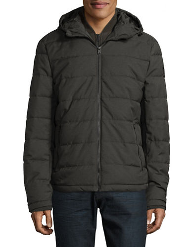London Fog Puffer Coat-GREEN-Small