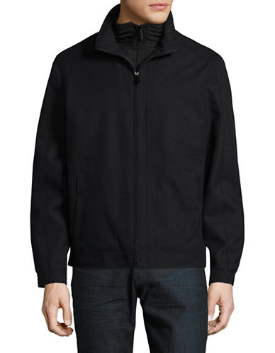 London Fog Cedar Waterproof Jacket-BLACK-Large