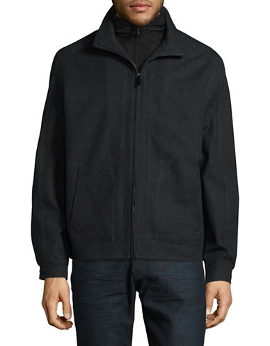 London Fog Cedar Waterproof Jacket-CHARCOAL-Large