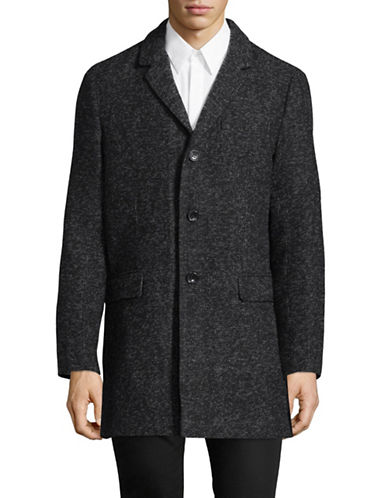 Michael Michael Kors Slim-Fit Long Sleeve Blazer-CHARCOAL-Large