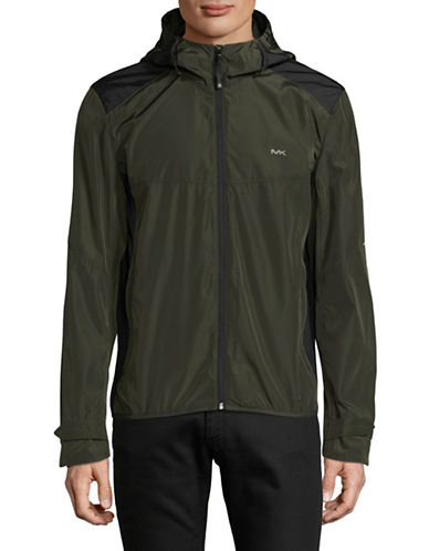 Michael Michael Kors Mens Windbreaker-GREEN-X-Large