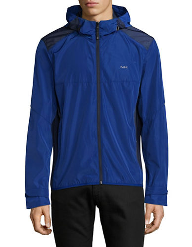 Michael Michael Kors Mens Windbreaker-BLUE-X-Large