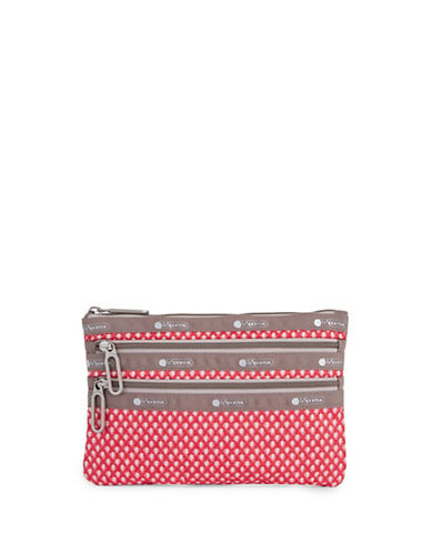 Lesportsac Classic Three-Zip Pouch-BLOOM-One Size