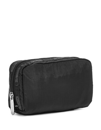 Lesportsac Rectangular Cosmetic Pouch-BLACK/BLACK-One Size
