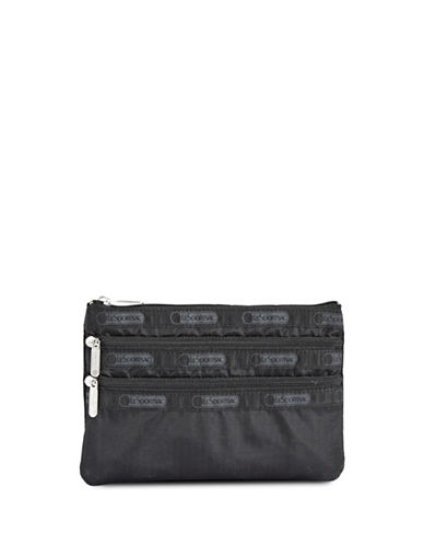 Lesportsac Three Zip Cosmetic Bag-BLACK-One Size