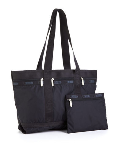 Lesportsac Medium Travel Tote-BLACK-One Size 85063548_BLACK_One Size