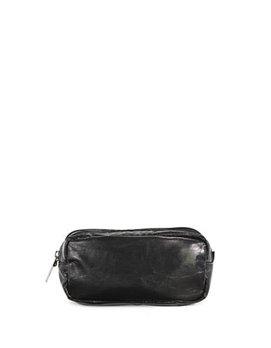 Lesportsac Kevyn Double Zip Pouch-BLACK CRINKLE-One Size