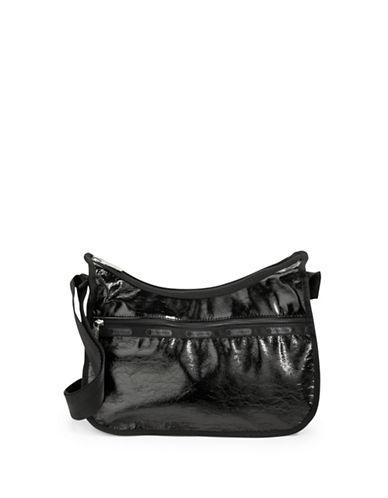 Lesportsac Classic Hobo Bag-BLACK CRINKLE-One Size