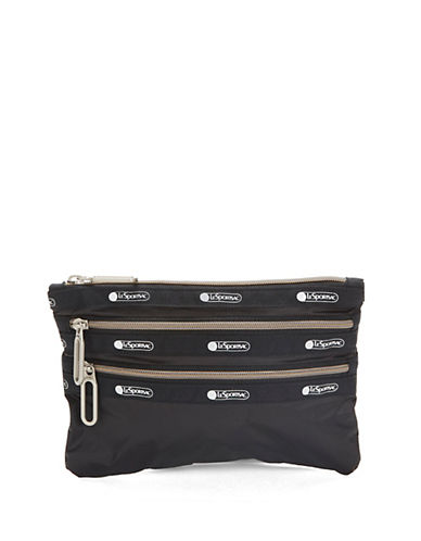 Lesportsac Classic Three-Zip Pouch-BLACK-One Size