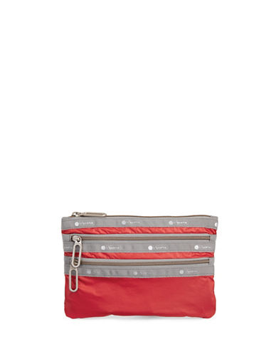 Lesportsac Classic Three-Zip Pouch-RED-One Size