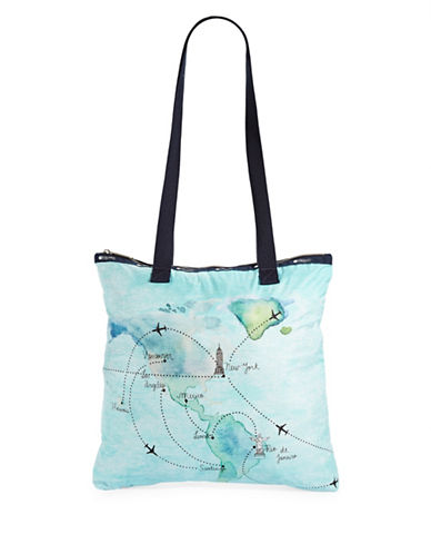 Lesportsac Artist Tote-BLUE MULTI-One Size