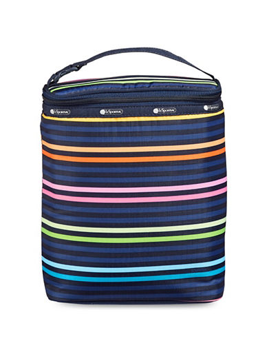 Lesportsac Printed Double Bottle Bag-BLUE STRIPES-One Size