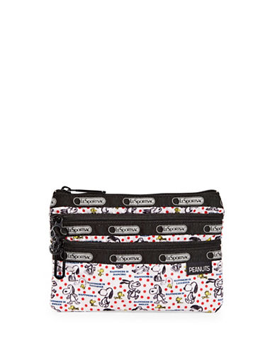 Lesportsac Illustrated Snoopy Cosmetics Bag-GREY-One Size
