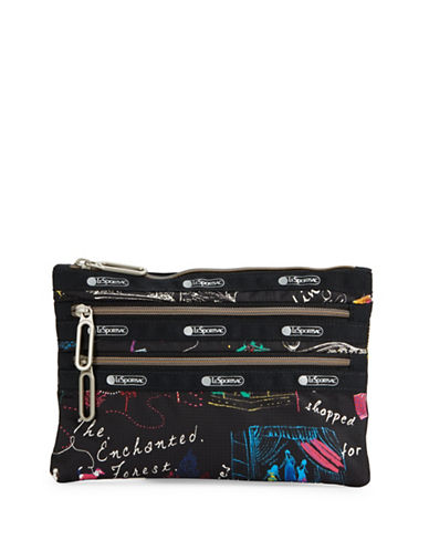 Lesportsac Classic Three-Zip Pouch-YELLOW-One Size