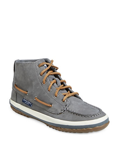 Sperry Pike Remi Nubuck Chukka Boots-DARK GREY-8.5