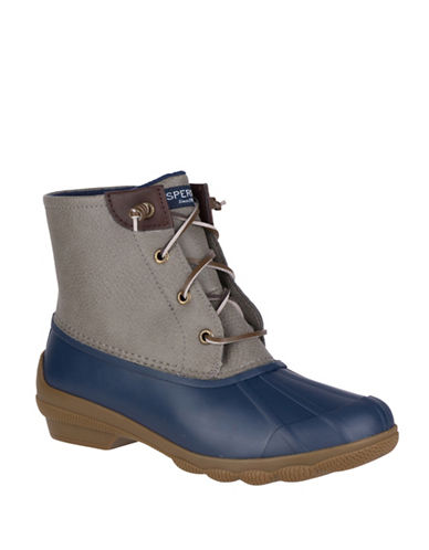 Sperry Mid-Calf Duck Boots-GREY/BLUE-5.5