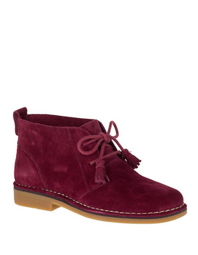 Hush Puppies Cyra Catelyn Suede Chukka Boots-BURGUNDY-8.5
