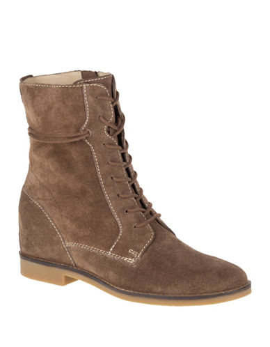 Hush Puppies Bab Felise Lace-Up Booties-BROWN SUEDE-11