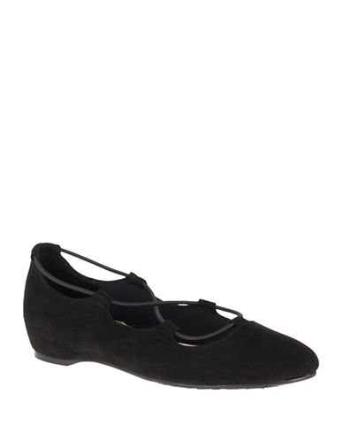 Hush Puppies Colleen Lace-Up Flats-BLACK-9