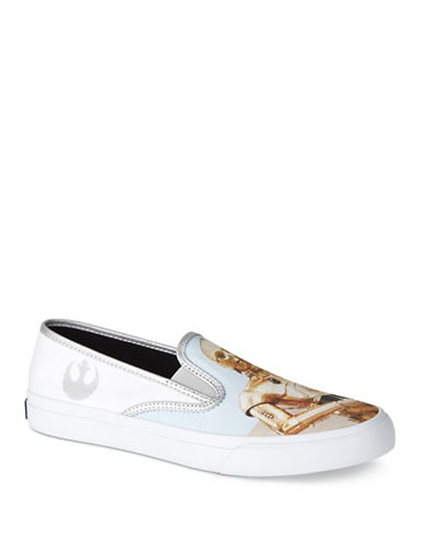Sperry Star Wars Droid Slip-On Sneakers-WHITE-9