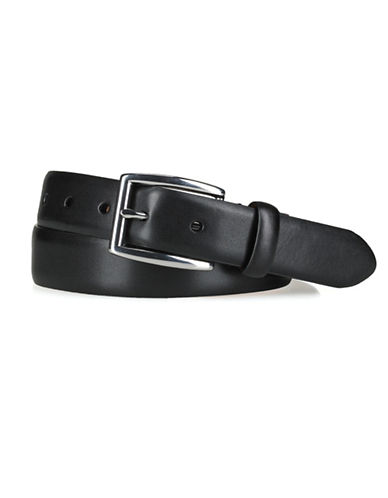 Polo Ralph Lauren Leather Dress Belt-BLACK-38
