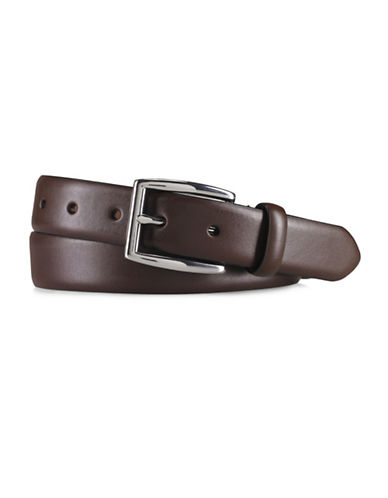 Polo Ralph Lauren Saddle Leather Dress Belt-BROWN-34