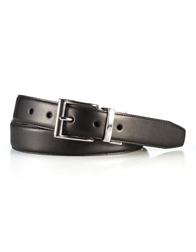 Polo Ralph Lauren Reversible Vachetta Leather Belt-BLACK/BROWN-34