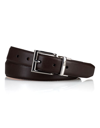 Polo Ralph Lauren Reversible Saddle Leather Belt-BROWN/COGNAC-40