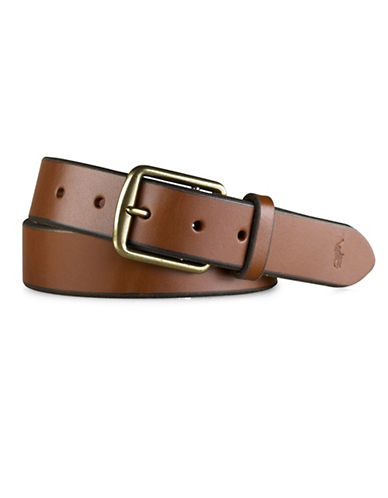 Polo Ralph Lauren Saddle Leather Dress Belt-BROWN-32