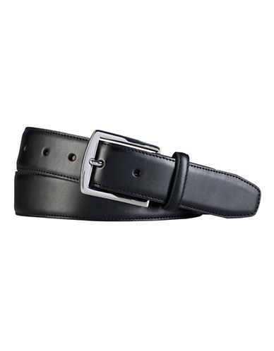 Lauren Ralph Lauren Faux Leather Dress Belt-BLACK-32