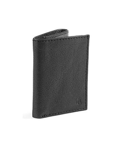 Lauren Ralph Lauren Oil Milled Trifold Wallet-BLACK-One Size