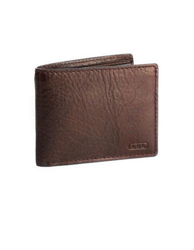 Lauren Ralph Lauren Oil Milled Passcase Wallet-BROWN-One Size