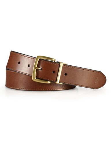Polo Ralph Lauren Casual Reversible Leather Belt-BROWN/BLACK-42