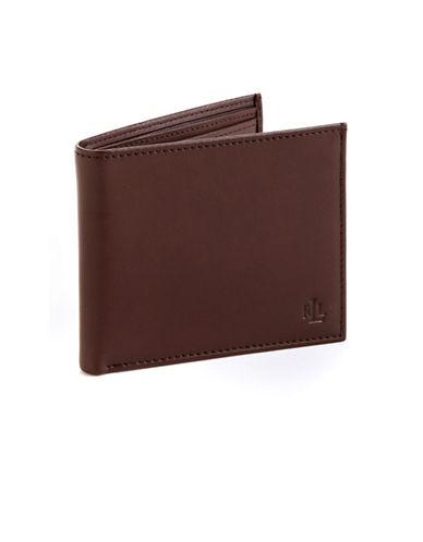 Lauren Ralph Lauren Leather Wallet-BROWN-One Size