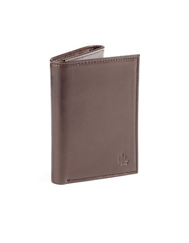 Lauren Ralph Lauren Burnished Trifold Wallet-BROWN-One Size