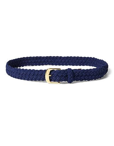 Lauren Ralph Lauren Medium Braided Stretch Belt-BLUE-Large 90075456_BLUE_Large