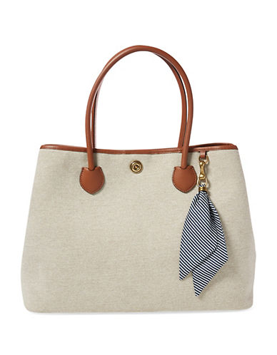 Image result for LAUREN RALPH LAUREN Large Canvas Market Tote