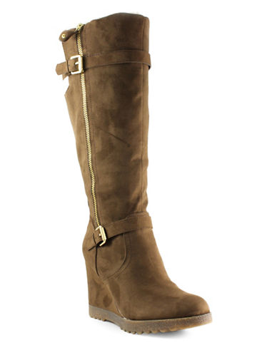 Unisa Huxley Wedge Boots-BROWN-9