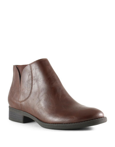 Unisa Thayer Slip-On Booties-TAN-7.5