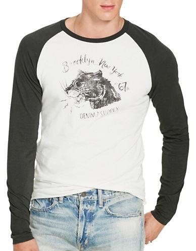 Denim & Supply Ralph Lauren Cotton Graphic Baseball Tee-WHITE-Large 88735738_WHITE_Large