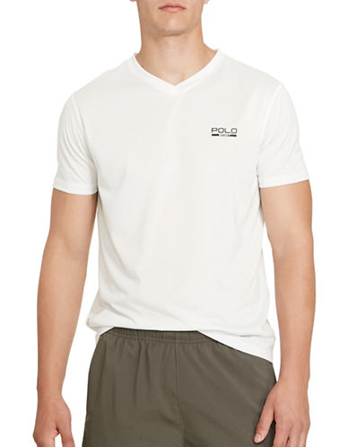 Polo Sport Micro-Dot Jersey T-Shirt-PURE WHITE-X-Large 88301786_PURE WHITE_X-Large