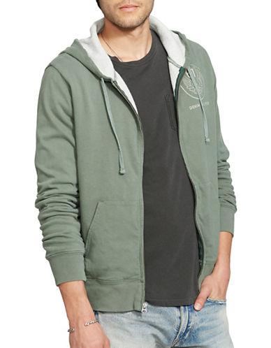 Denim & Supply Ralph Lauren Cotton Jersey Full-Zip Hoodie-GREEN-Medium 88735910_GREEN_Medium